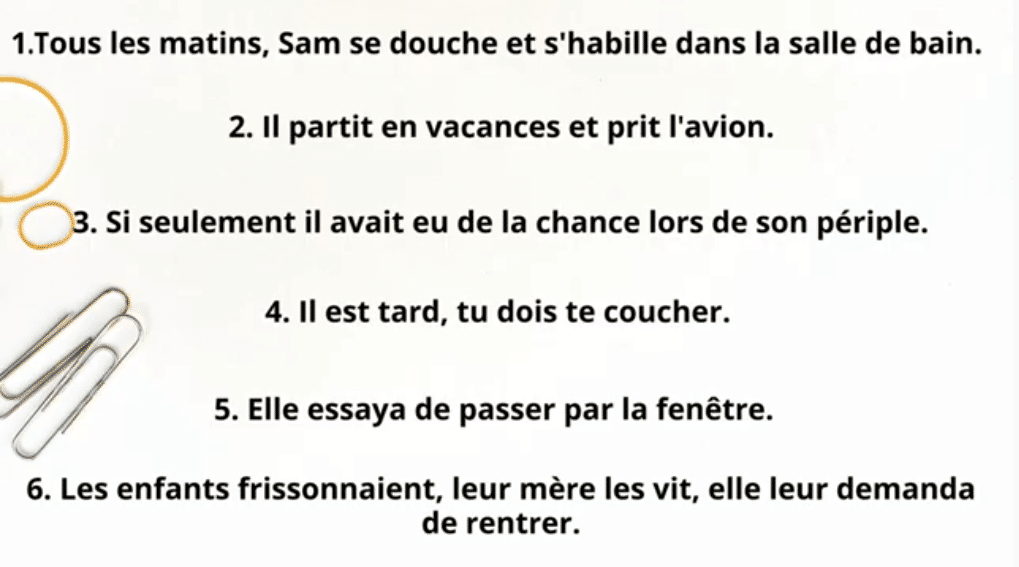 exemples phrases simples et complexes