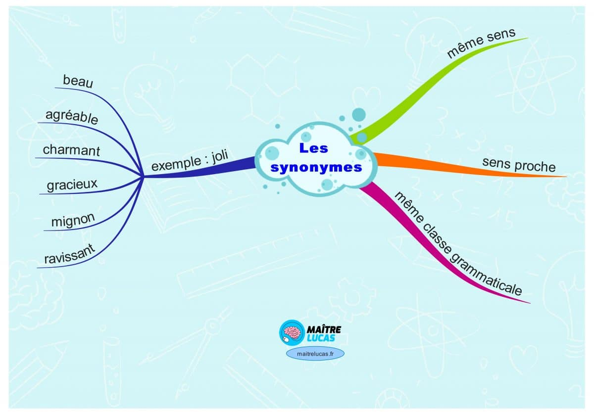carte mentale les synonymes