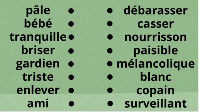 exercices les synonymes cm1 cm2