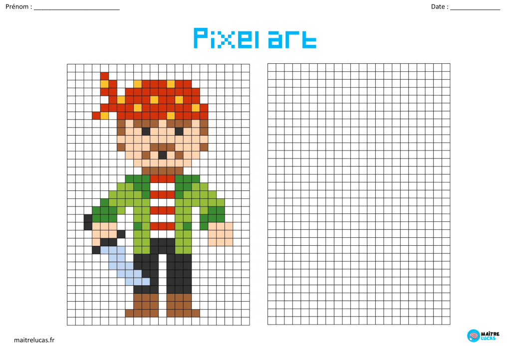 Pixel art pirate CP CE1 CE2 CM1 CM2
